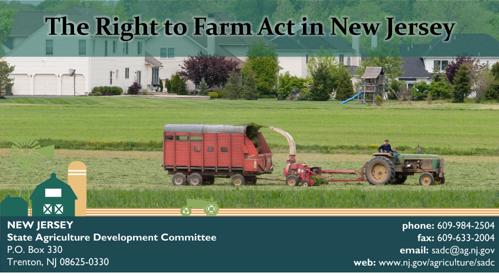 RTF Event: From Farm to Zoning & Back: The municipal officials guide to the Right to Farm Act in NJ