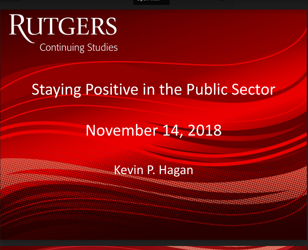 Annual Luncheon: The Importance of Maintaining a Positive Outlook in the Public Sector